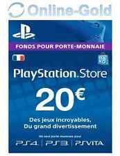 Carte PlayStation Network 20 EUR - Compte français Code Jeu PSN PS4 PS3 PS Vita