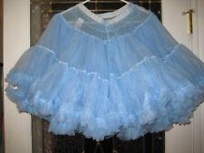 SISSY LOLITA BLUE   PETTICOAT NYLON CHIFFON M-L -XL