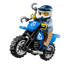 Lego ® City Minifig Figurine Policier Shérif + Moto Cross Bleue NEW