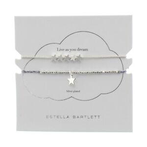 Estella Bartlett Friendship Bracelet Silver Plated Stars TR1201CC
