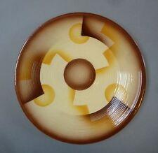 Art Deco Keramik Teller Spritzdekor Relief Elsterwerda um 1930