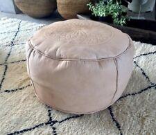 Moroccan Pouf Leather pouf Ottoman pouf, handmade pouffe.p 10