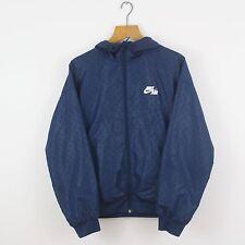 Vintage NIKE AIR Navy Blue Soft Shell Hoodie Jacket | Athletic Sport | Medium M