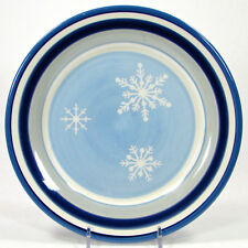 "St. Nicholas Square WINTER FROST 8.75"" Salad Plate Blue White Snowflakes"