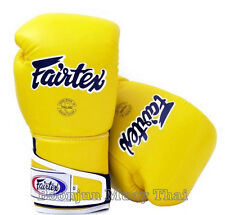 New Fairtex  Boxing Gloves BGV6 Stylish Angular Sparring Yellow Black White MMA