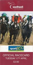 Racecard - Southwell 17th April 2012