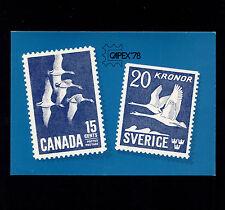 Opc 1978 Canada Capex 78 International Stamp Exhibition Postcard Unused