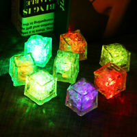 1/5/10PCS Light UP LED Ice Cubes Color Changing Glow Wine Drinks Christmas Party