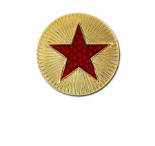 Round Plain Star School Badge With Colour