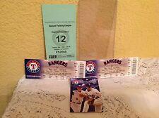 TEXAS RANGERS 2 GAME USED BASEBALL TICKETS VS NEW YORK YANKEES 2007 MLB STADIUM
