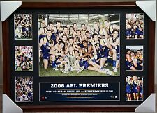WEST COAST EAGLES 2006 AFL PREMIERGRAPH MONTAGE PRINT FRAMED JUDD WORSFOLD