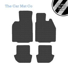 Porsche 911 (997) 2005-11 Fully Tailored Rubber Car Mats With Silver Stripe Trim