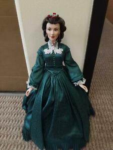 """Franklin Mint Scarlett Christmas Vinyl Doll  16""""  LE/1000 With Stand!!"""