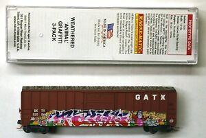 MTL Micro-Trains 25129 GATX (MKT) BKTY 150866 FW Factory Weathered