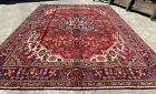 Authentic Hand Knotted Vintage Tabreez Wool Area Rug 10 x 7 FT (20001 HMN)