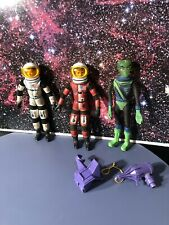 3 Mattel Major Matt Mason Figures Complete With Helmets Callisto Sgt Storm
