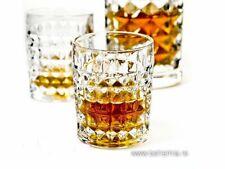 Crystal Glass Set of 6 Whiskey Rocks Glasses Cognac Vodka 8 oz / 250 ml Bohemian