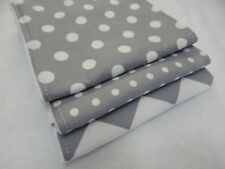 Grey Chevron and Spots Burp Cloths X 3 Toweling Backed Great Gift Idea