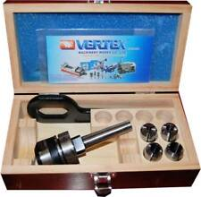 Vertex 2 MT 4 pc Imperial Posilock Milling Collet Chuck 2 Morse Taper