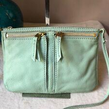Fossil Mint Green Leather Crossbody Bag