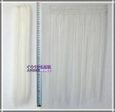 White Hair Weft Extention (3 pieces) - 60cm High Temp - Cosplay 7_101