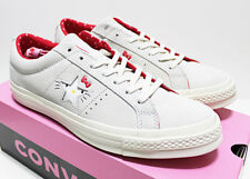 NIB RARE! CONVERSE X HELLO KITTY MEN'S 11 SNEAKERS ONE-STAR GRAY/RED SUEDE