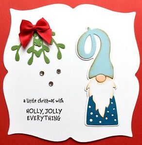 Handmade By Susie Christmas Gnome Christmas Card Topper FLAT RATE UK P&P
