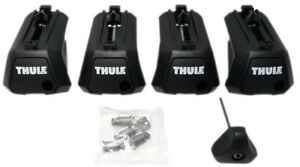 Thule 710400 Evo Raised Rail Foot Packs X4 -W/ Locks +  Keys - Brand New In Box