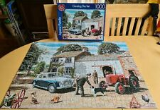 """FX Schmid 1000 piece jigsaw puzzle """" Greeting the Vet """" 1 piece missing"""