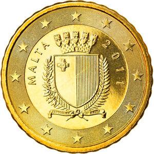 [#825222] Malte, 10 Euro Cent, 2011, Paris, FDC, Laiton, KM:128