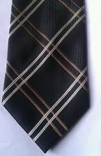 Cedarwood state black and brown cross hatch polyester tie