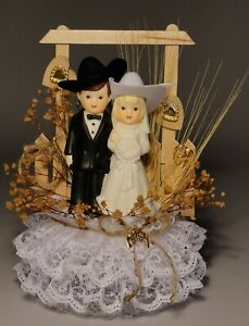 Western Pride Personalized Western Wedding Cake Topper WG444 HANCRAFTED IN USA