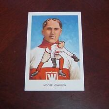 Hockey Hall of fame postcards 1983 Moose Johnson A10