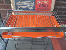 Vintage- Structo FoldawayOrange Picnic Grill No. 2502 in Original Box - USA