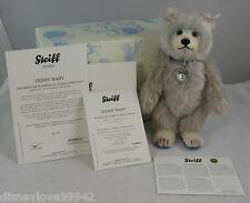 Steiff 20 Year Member Bear TEDDY BABY Blue 20 Year Loyalty Bear EAN 421211