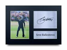 More details for seve ballesteros signed pre printed autograph a4 photo gift for a golf fan