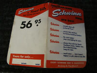 schwinn vintage hanging for sale sighn  reprint RED AND WHITE  SCHWINN