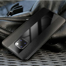 For Huawei Mate 20 Pro 10 P20 Luxury PU Leather Hard Tempered Glass Case Cover