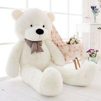 63in.Teddy Bear Stuffed Pillow Plush Soft toys Doll Gift Giant Huge Big White