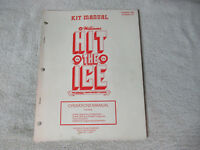 HIT THE ICE  MIDWAY  arcade video game manual