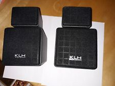 """New listing Klh Tw-09B """"Twistable"""" Compact Speakers, Integral Wall Mounts, Front or Surround"""