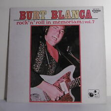 "33T Burt BLANCA Vinyl 12"" ROCK ""N"" ROLL MEMORIAM Vol. 7 NATIONAL 16170 F Rèduit"
