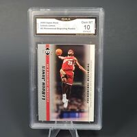 2003 Upper Deck LeBron James Number 5 Phenomenal Beginning Rookie Gem mint 10