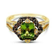 Levian ® Anillo Peridoto Diamantes Vainilla Chocolate diamantes ® ® ™ oro 14K Miel
