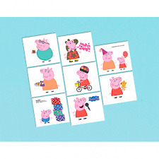 Peppa Pig Temporary Tattoo - 1 sheet, 8 tattoos