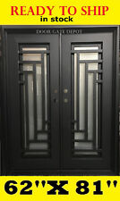 FRONT ENTRY IRON DOOR WITH TEMPERED OPERABLE GLASS 62''X81'' Modern 205