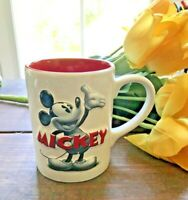 Authentic Disney Theme Park Mickey Mouse LARGE Red Coffee Mug Cup-COLLECTIBLE