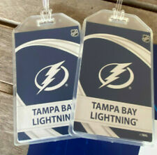 TAMPA BAY LIGHTNING VORTEX LUGGAGE TAGS - 2021 STANLEY CUP CHAMPIONS - SET of 2