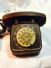 Automatic Electric Vintage Old Industrial Brown Rotary Dial Office  Telephone