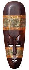 NEU schöne 50 cm Ethno Maske Gold Holz Afrika Maske32